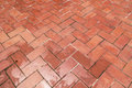 Chinese style red ground brick top view Stock Images