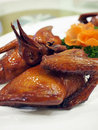 Chinese style roasted pigeon Stock Image