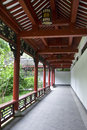 Chinese style walkway Stock Photo