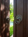 Chinese style wooden door resort s Stock Images
