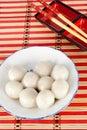 Chinese sweet dumplings Royalty Free Stock Photo