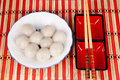 Chinese sweet dumplings Royalty Free Stock Photo