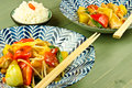 Chinese sweet and sour stir fry Stock Photo