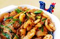 Chinese Szechuan hot spicy seafood dish Royalty Free Stock Photo