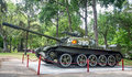 Chinese tank in reunification palace ho chi minh vietnam april type on the yard of the same model burst through the gates of the Royalty Free Stock Image