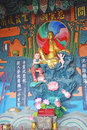 Chinese taoism god wall sculpture Stock Images