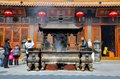 Chinese Taoist temple Shanghai China Royalty Free Stock Photo