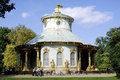 Chinese tea house of sanssouci in potsdam the castle grounds visited by tourists Stock Photo