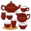 Chinese tea utensils set.