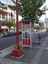 A chinese telephone booth i in china town in victoria british columbia Stock Images