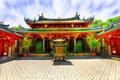 Chinese temple courtyard Stock Photo