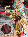 Chinese temple dragon statue in Royalty Free Stock Image