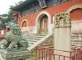 Chinese temple entrance Royalty Free Stock Photos