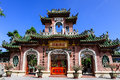 Chinese temple at the hoi an old town vietnam Royalty Free Stock Photo