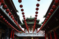 The chinese temple in Kaohsiung Royalty Free Stock Photo