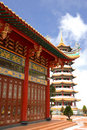 Chinese temple and pagoda Stock Image