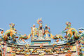 Chinese temple  roof. Royalty Free Stock Image