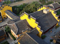 Chinese temple rooftops Stock Images
