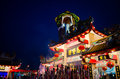 Chinese temple in thailand during the night Stock Photography