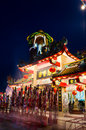 Chinese temple in thailand during the night Royalty Free Stock Photos