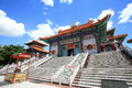 Chinese temple, wat Leng-Noei-Yi against blue sky Stock Photo