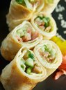 Chinese or Thai-style  spring rolls Royalty Free Stock Photography