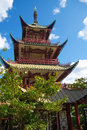 The chinese tower in tivoli garden copenhagen denmark gardens is a famous amusement park and pleasure Royalty Free Stock Images