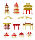 Chinese traditional buildings temple collection Royalty Free Stock Photography
