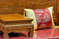 Chinese traditional furniture part of flowery style wooden in luxury style Stock Photos