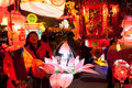Chinese traditional lantern festival people enjoy homemade lanterns to celebrate liuzhou guangxi zhuang autonomous region china Stock Image