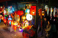 Chinese traditional lantern festival people enjoy homemade lanterns to celebrate liuzhou guangxi zhuang autonomous region china Stock Photos