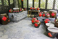 Chinese Traditional Liquor Urns Royalty Free Stock Photos