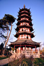 Chinese traditional pagoda Royalty Free Stock Photo