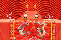 Chinese traditional wedding setting Royalty Free Stock Images