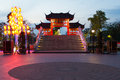 Chinese village gate Royalty Free Stock Photography