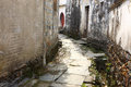 Chinese village road yancun the in wuyuan china Royalty Free Stock Photography