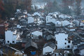 Chinese village shicheng the in dawn wuyuan china Royalty Free Stock Photography