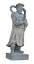 Chinese warrior stone statue at Matchimawas temple an Songkhla Royalty Free Stock Photo