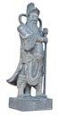 Chinese warrior stone statue Royalty Free Stock Photo