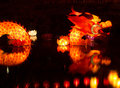 Chinese water dragon mythical at the lantern festival celebrating the end of new year christchurch new zealand Royalty Free Stock Photos
