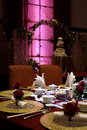 Chinese wedding table setting Stock Image