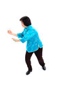 Chinese Woman performs Tai Chi Royalty Free Stock Image