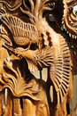 Chinese wood carving Stock Photos