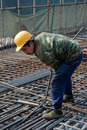 Chinese workers construct viaduct in chengdu china Stock Photography