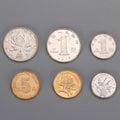 Chinese yuan coins One yuan Royalty Free Stock Photo
