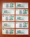 Chinese yuans by fifty denomination are on a table one by one Royalty Free Stock Image