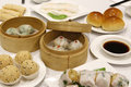 Chinese yum cha chat banquet lunch Stock Images