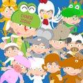 Chinese zodiac animal kid doll year of the snake illustration new Stock Image