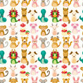 Chinese Zodiac animal seamless pattern Stock Photography