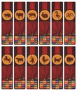 Chinese Zodiac Bookmarks Set Royalty Free Stock Photo